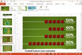 Animated Football Playbook Powerpoint Template