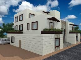 modern arabic style exterior dubai house plans