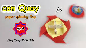 Cách gấp con Quay bằng giấy ⭐ Beyblade ⭐ How to make a paper spinning top  ⭐paperblade ⭐con Quay V4 - YouTube