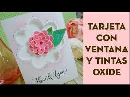 Tarjeta Con Ventana Y Tintas Distress Oxide Correo Bonito Para Dar Las Gracias Pega Papel O Tijeras