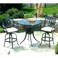 bistro set outdoor bar height wicker patio sets table