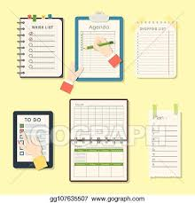 Agenda List Vector Stock Agenda List Vector Business Paper Clipboard