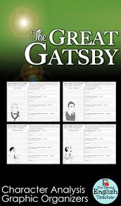 best images about the great gatsby english the great gatsby character analysis graphic organizers