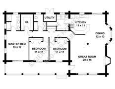 Log Cabin Floor Plans  Yellowstone Log HomesCabin Floor Plans