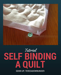 Video tutorial: self binding a quilt or using the back of the ... & Video tutorial: self binding a quilt or using the back of the quilt to make  the binding Adamdwight.com