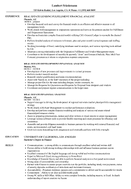 Financial Analyst Resume Real Estate Financial Analyst Resume Samples Velvet Jobs 16