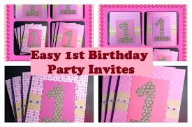 super easy 1st birthday invitations video tut you