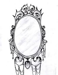 vintage mirror drawing. mirror frame ! by aimstar vintage drawing