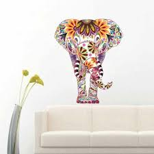 colorful elephant wall decal removable