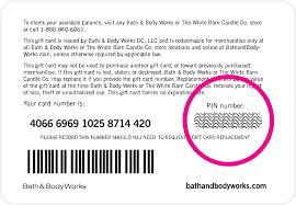 bath and body works font giftcard security code bath body works