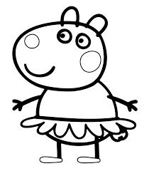 Coloriage Peppa Pig L Gant Papier Peint Google Pinterest