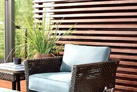 wood privacy screen deck with thermally modified wood privacy