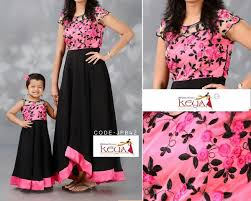 Designer Dresses For Mother And Daughter Nice Design Mother Daughter Fashion Mother Daughter