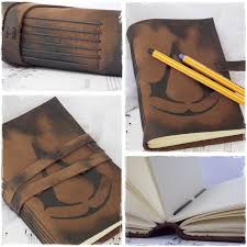 leather sketchbook inspired by in s creed by chrisonly