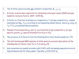 Standing Katz Chart Ppt The Z Factor Gives Accurate Gas Volumetric Properties
