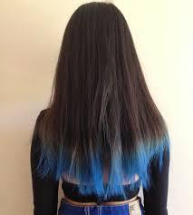 Blue Dip Dye On Light Brown Hair Dip Dye Hair Blue Alexandraindries Com