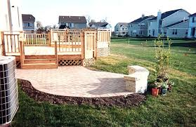 paver patio with deck. Beautiful Deck Paver Patio With Deck Lovely On Home For Builders Arlington Hts Palatine Mt  Prospect IL Basement
