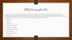 frq essay response question writing ap psychology frq writing be  response question writing ap psychology frq writing be 6 frq
