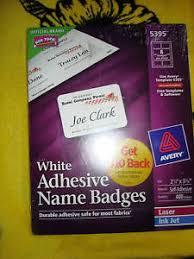 Avery 5395 Name Badges Avery Adhesive Name Badges Labels 5395 Ebay