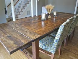Rustic Dining Table Diy Gloss Mahogany Table Combined Design - Diy rustic dining room table