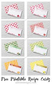 Printable Recipe Cards 12 Sets Of Free Templates