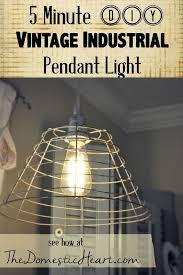 5 minutes diy vintage industrial pendant light