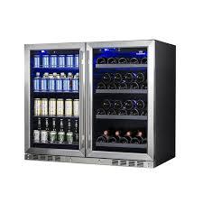 Beer Bottle Vending Machine Magnificent 48 Beer And Wine Cooler Fridge Double Door Beverage Center KBU48LR