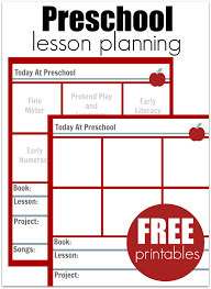 downloadable lesson plan templates preschool lesson planning template free printables no time for