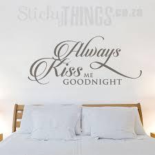 always kiss me goodnight wall art sticker
