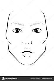 Blank Face Chart Blank Face For Makeup Face Chart Makeup Artist Blank