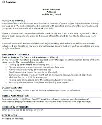 Hr Assistant Cv Hr Assistant Cv Example Icover Org Uk