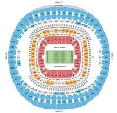 New Orleans Saints Superdome Seating Chart Mercedes Benz Superdome Tickets With No Fees At Ticket Club