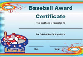 Name A Star Certificate Template Gorgeous Free Baseball Award Certificate Template Word Baseball Certificate