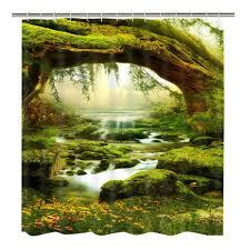 home garden waterproof shower curtain