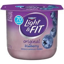 dannon light fit original blueberry nonfat yogurt