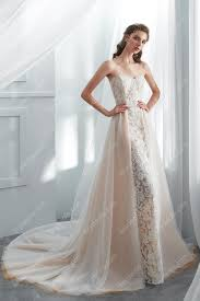 Mermaid Designer Designer Lace Overskirt Mermaid Wedding Gown