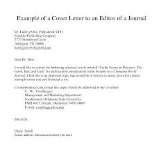Cover Letter To Journal Editor Photo Editor Cover Letter Manuscript Cover Letter Cover Letter To
