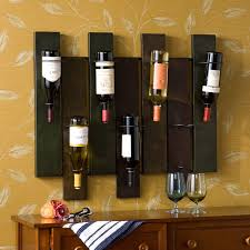 Wine Bottle Storage Angle Woodland Imports Arezzo Wood Metal Angle 5 Bottle Angle Wall
