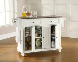 Small Picture Kitchen Mobile Kitchen Island With Stainless Steel Kitchen