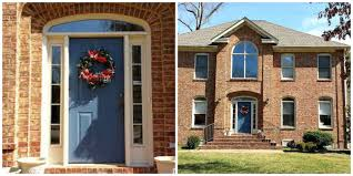 houses with red front doors. Fine Houses Red Front Door Color For Brick House Flanked Black Outdoor In Houses With Doors T