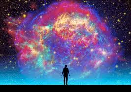 Gif Trippy Space Galaxy Nebula Man Universe Star Between Spiritual Quotes  Wallpaper - LowGif
