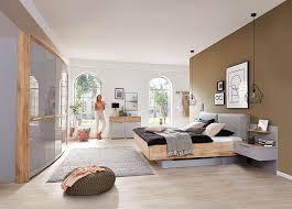 Schlafzimmer Casante Samteiche Seidengrau