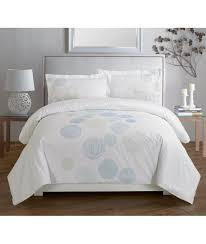 spiral blue embroidered duvet cover set