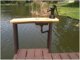 dock fish cleaning table with sink