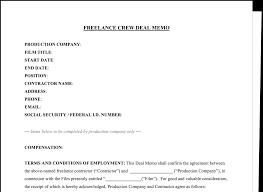 Memo Template Download FREE Crew Deal Memo Template 6