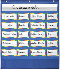 Classroom Jobs Chart Classroom Helpers Pocket Chart Grade Pk 5