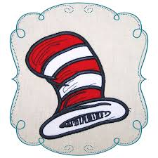 Dr Seuss Embroidery Designs Cat In The Hat Dr Seuss Applique Machine Embroidery Design