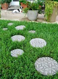 diy embossed stepping stones dream a