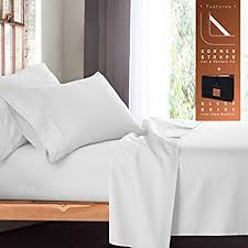 extra deep pocket sheets king size. Plain Size Premium California King Size Sheets Set  White Hotel Luxury 4Piece Bed  Set For Extra Deep Pocket K
