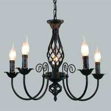 black chandelier shades metal simple home improvement scenic iron led lamps living room retro